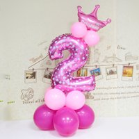 Number Foil Balloons Wedding Decoration Birthday Party Heart Digit Inflatable Helium Balloons Holiday Supplies