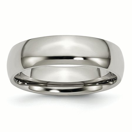 Titanium 6mm Wedding Ring Band Size 13.50 Classic Domed Fashion Jewelry Gifts For Women For Her - image 11 de 11