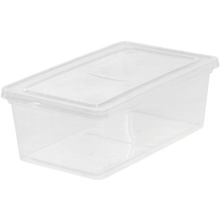 IRIS 6 Quart Clear Storage Box, 18 Pack](Clear Storage Boxes)