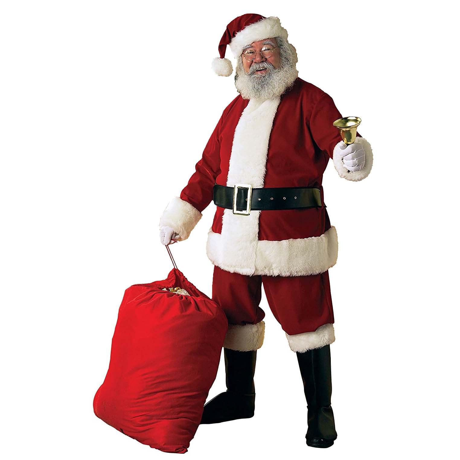 Rubie's Deluxe Velvet Christmas Santa Claus Suit Adult Me...