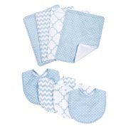 Blue Sky 8 Piece Bib and Burp Cloth Set