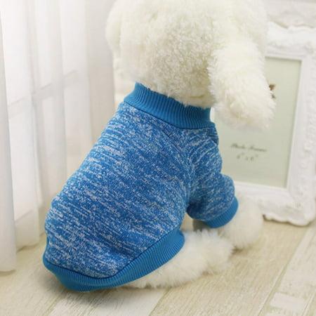 Pet Winter Casual Sweater Clothing Elastic Costume 2-Feet Sport Hoodies Jacket - image 2 of 7