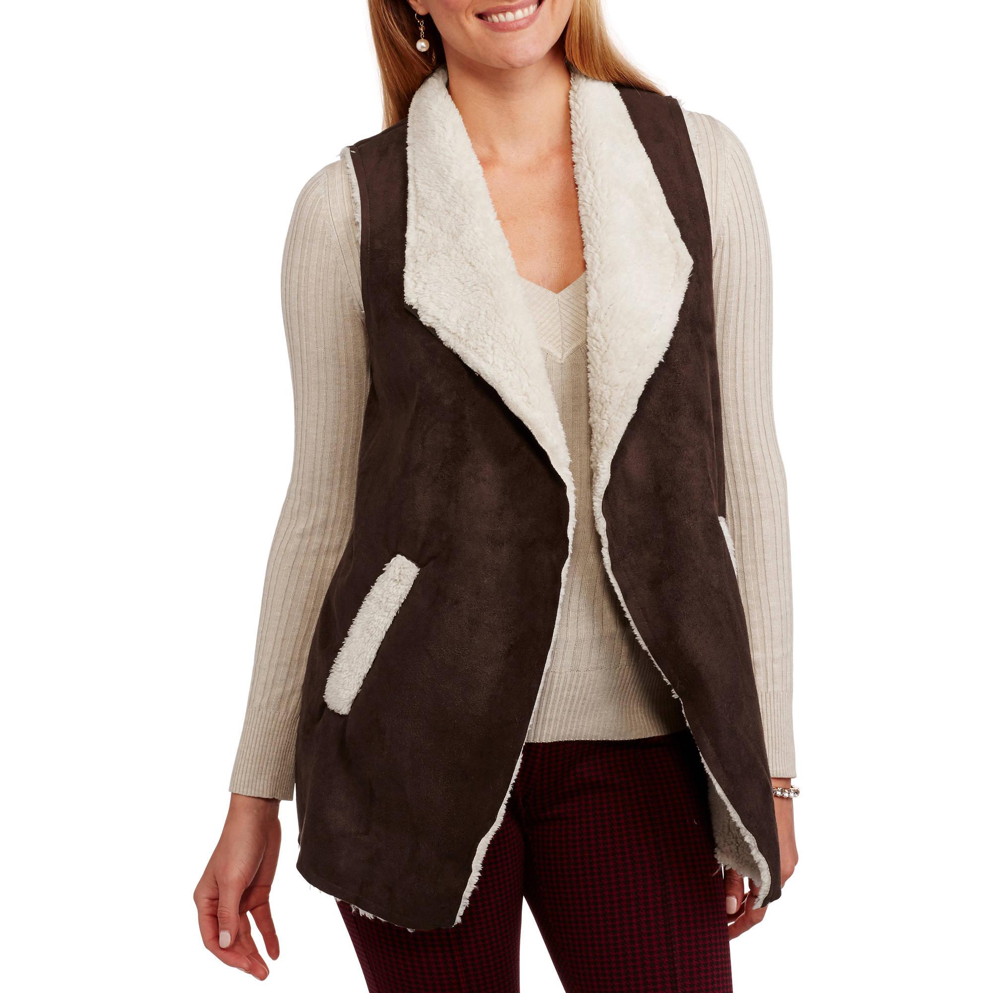 French Laundry Women's Flyaway Faux Fur Vest