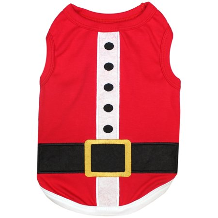 Parisian Pet Holiday XMAS Dog Clothes SANTA'S OUTFIT T-Shirt - Dog Outfits For Large Dogs