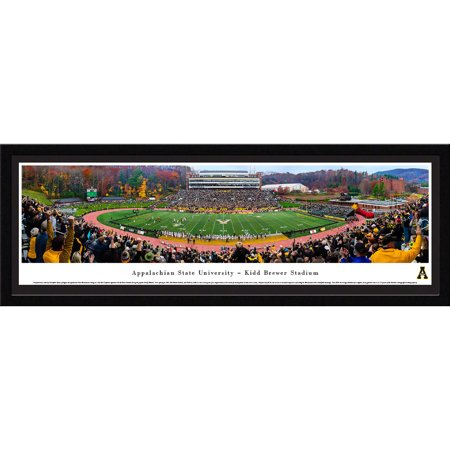 Appalachian State Mountaineer Fall Football - 50 Yard Line - Blakeway Panoramas Print with Select Frame and Single Mat
