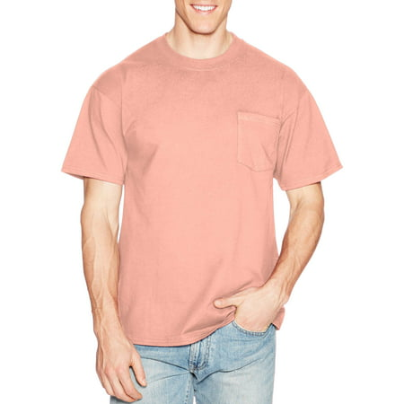 16336821 Hanes - Men's Premium Beefy-T Short Sleeve T-Shirt With Pocket, Up to Size  3XL - Walmart.com
