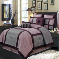 Morgan Purple 8-PC Bedding Set, Includes Comforter, Bed Skirt, Shams and Pillows - Full