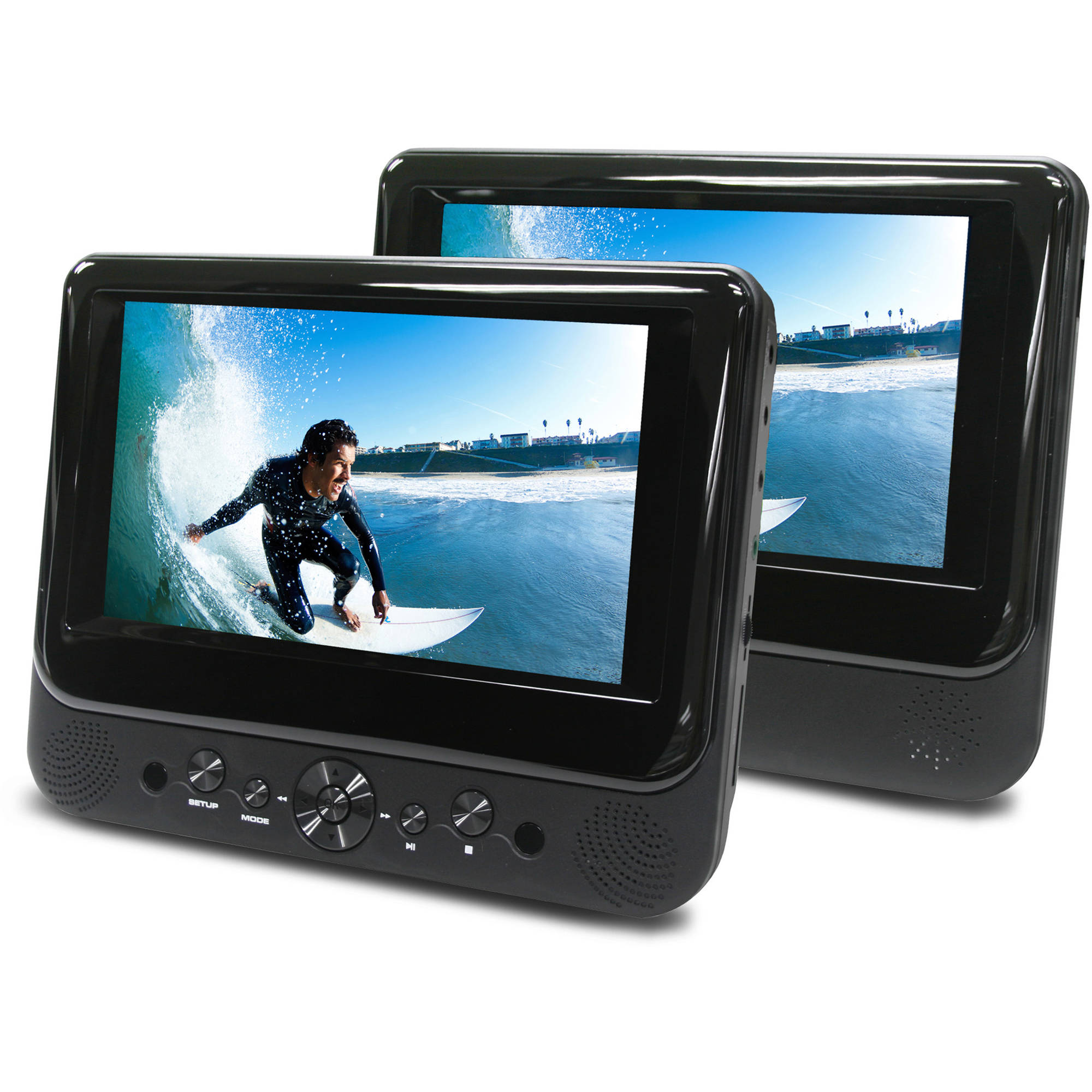 Ematic 7 Inch Dual Screen Portable DVD Player - Walmart.com