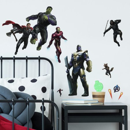 Avengers Endgame Peel & Stick Wall Decals Marvel Characters 26 Kids Room Decor Stickers (Avengers Decor)