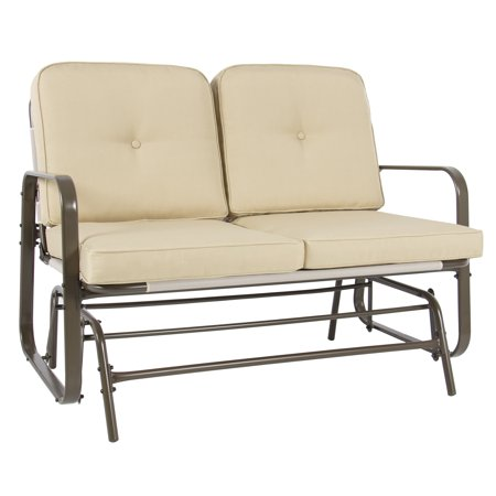 Best Choice Products 2 Person Loveseat Glider Rocking Chair Bench Patio Deck Outdoor Furniture