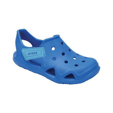 Crocs Boy's Swiftwater Wave Ankle-High Flat - Blue Flats For Girls