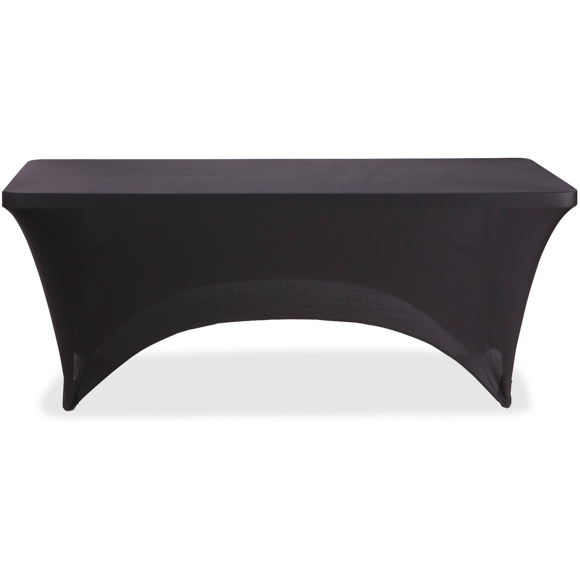 Iceberg, ICE16521, Stretch Fabric Table Cover, 1 Each, Black