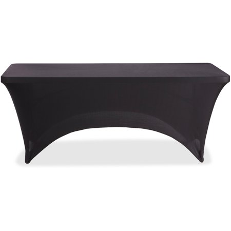 Iceberg, ICE16521, Stretch Fabric Table Cover, 1 Each, Black - Cheap Table Covers
