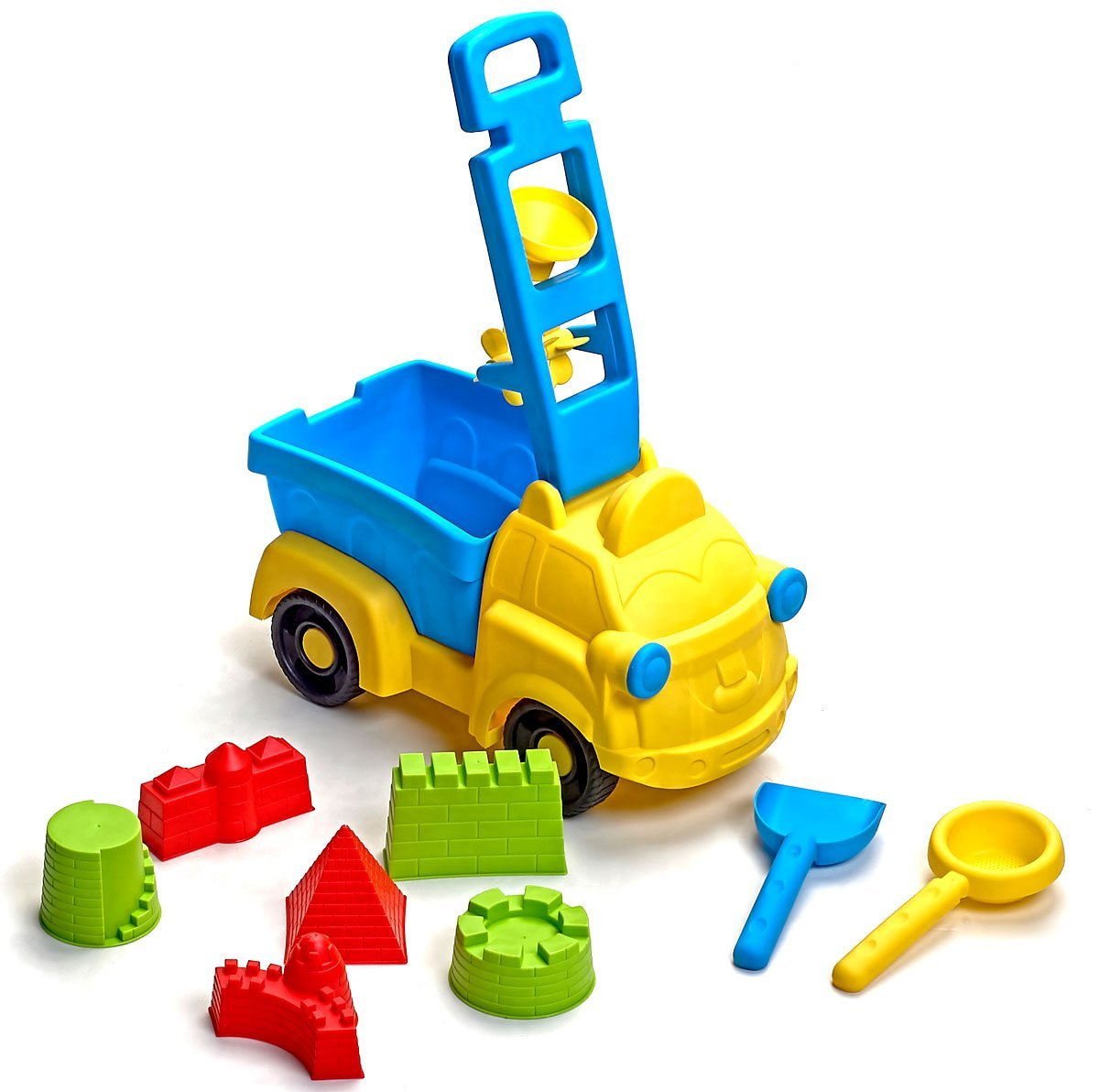 Beach Toys Deluxe Set 9 pieces Large Dump Truck Sand Molds Set by Bo-Toys