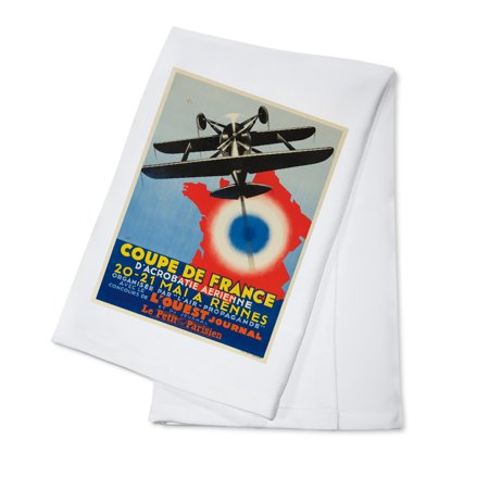 Coupe de France Vintage Poster (artist: VIC) France c. 1934 (100% Cotton Kitchen Towel) (Vantage Coupe)