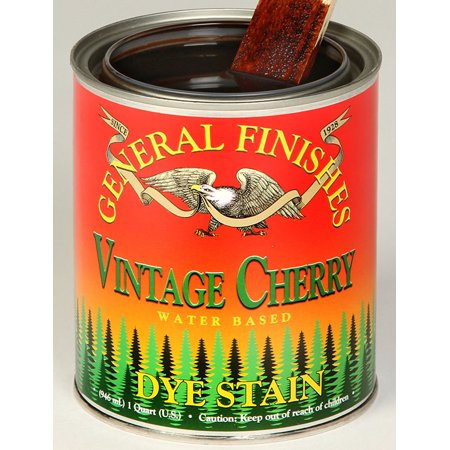 General Finishes, Water Based Dye, Vintage Cherry, Quart ()