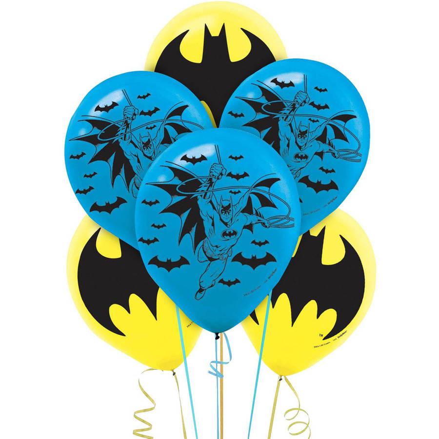 Batman Latex Balloons, 6pk