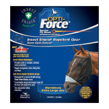 Manna Pro Opti-Force Fly Mask Extra - Cool Fly Mask