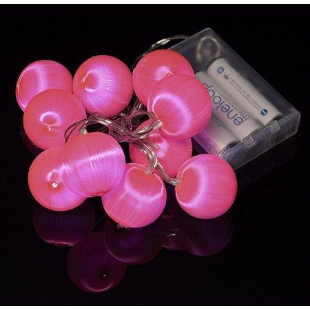 Fantado Pink Silk Ball String Light by PaperLanternStore - Pink String Lights
