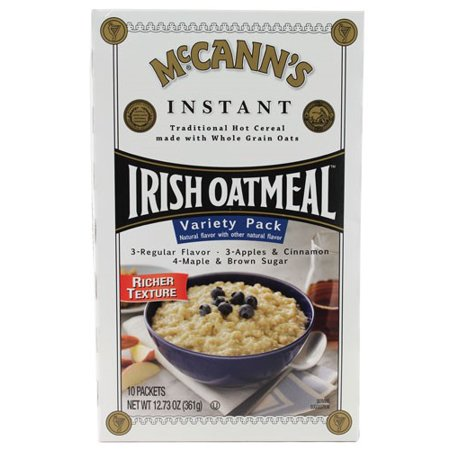 McCanns Instant Irish Oatmeal Variety Pack, 12. 7 oz,