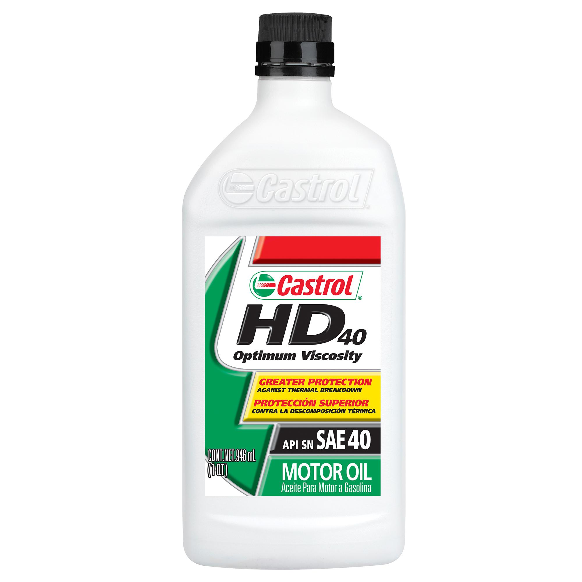 Castrol HD 40 Conventional Motor Oil, 1 QT