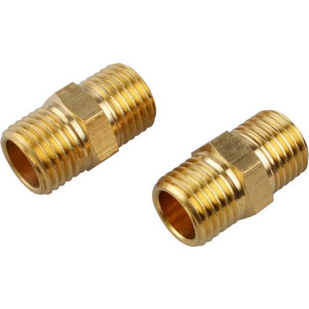 PowRyte 500093 Basic Solid Brass Fitting, Male Coupling Set, 1/4