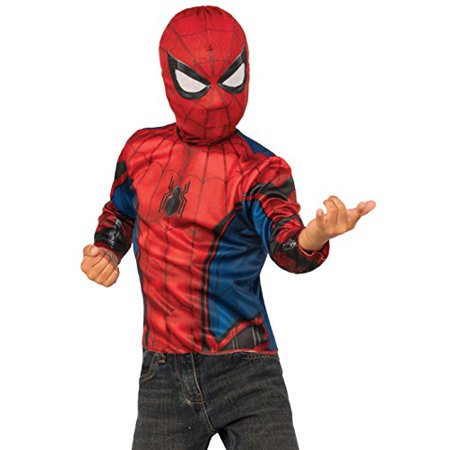 Imagine by Rubies Spider-Man Homecoming 2-In-1 Reversible Costume Top & Web Back Pack, Small