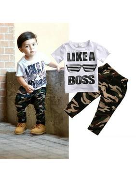 472e0a932 Product Image Casual Toddler Baby Kids Boys Summer Clothes T-shirt Tops+Long  Pants 2PCS Outfits. Honganda