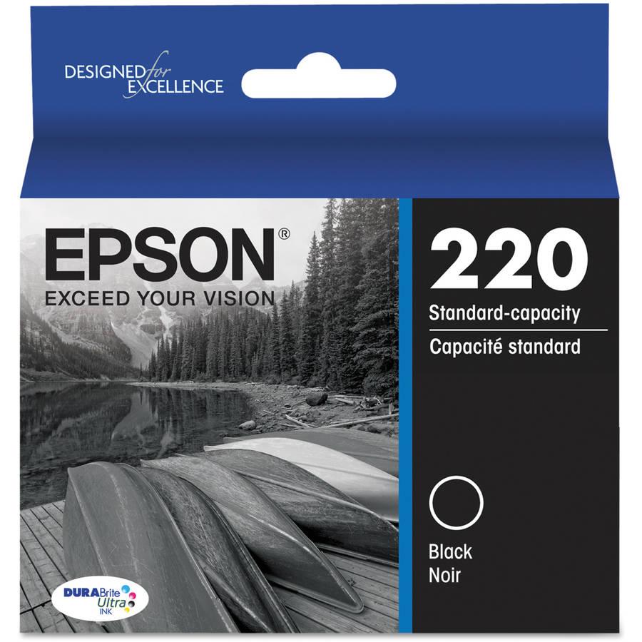 Epson T220120 (220) DURABrite Ultra Black Ink Cartridge
