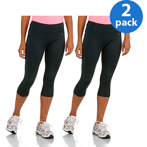 Danskin Now Womens Essential Performance Active Capris 2pk Value Bundle