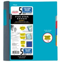 Five Star Advance Notebook - 5 Sub, 200ct CR, Teal