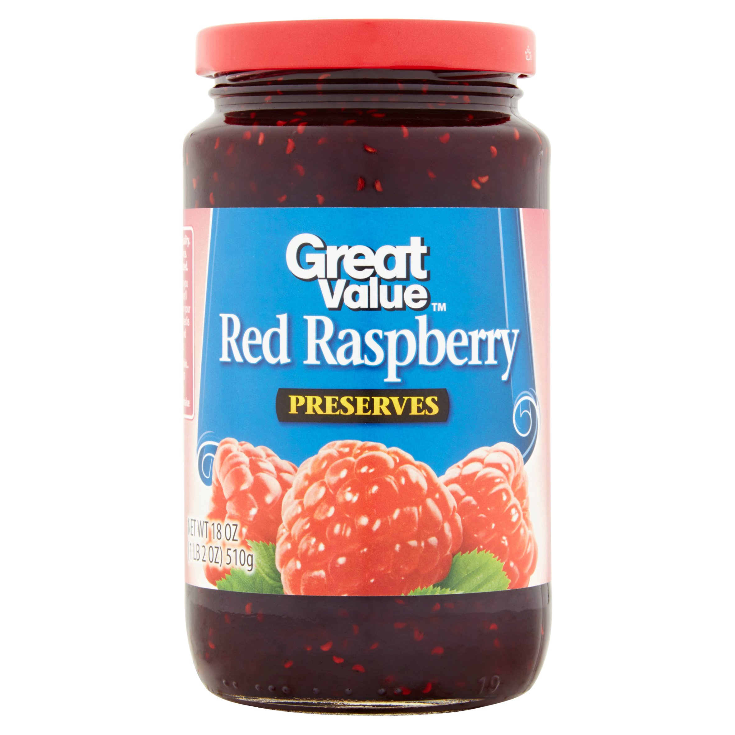 Great Value Red Raspberry Preserves, 18 oz