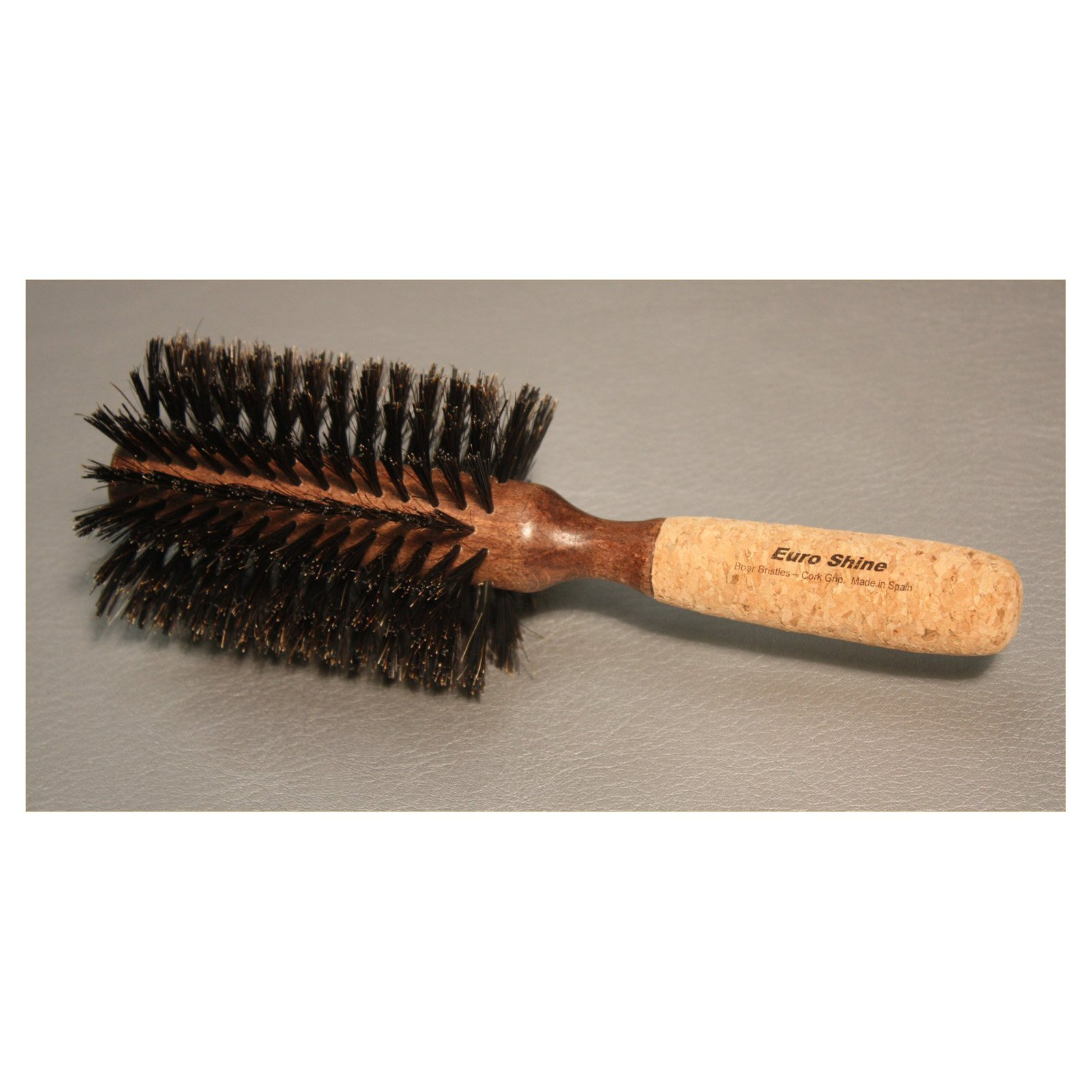 EuroShine 3.25 in. diam. Cork Grip Boar Bristle Brush