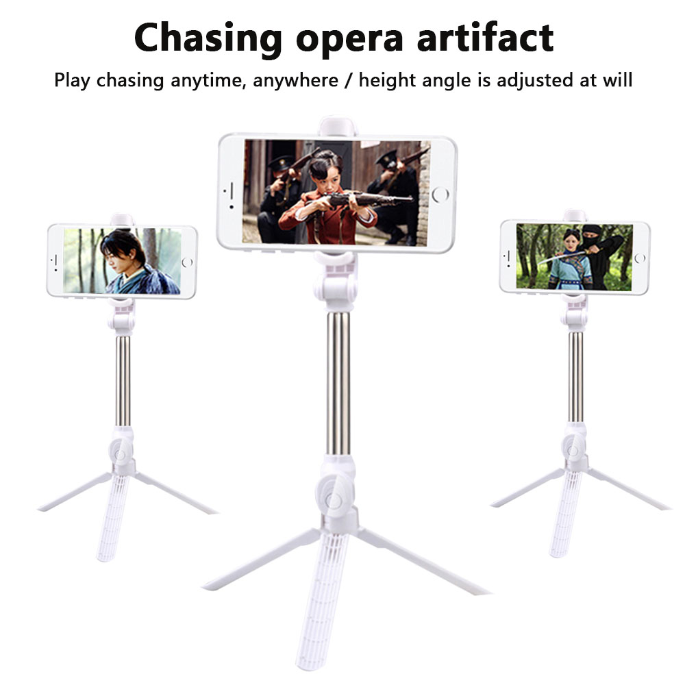 HNKHKJ Fashion Mini Wired Selfie Stick Monopod For Android iPhone 7 8 Plus X XR XS Max Extendable Portable Mirror Selfie Stick-Blue/_For/_iPhone