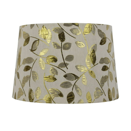 - Better Homes and Gardens Tapered Drum Shade Gold Leaf - Large Size - 15 Inches Wide by 10 Inches Height