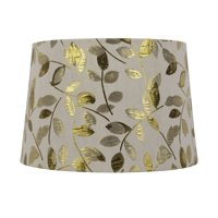 Better Homes and Gardens Tapered Drum Shade Gold Leaf - Large Size - 15 Inches Wide by 10 Inches Height