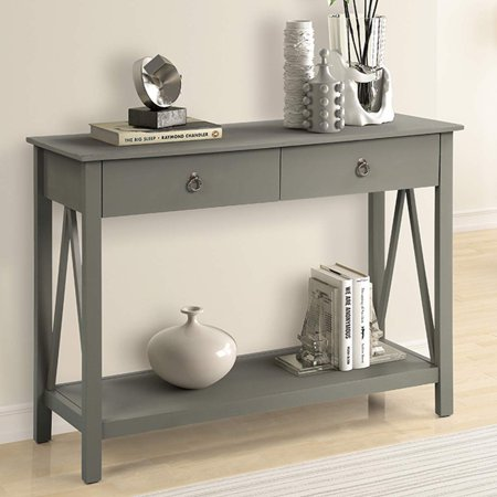 Top S Console Table With Drawers Sofa Entryway 2 And Storage Shelf Dark Khaki