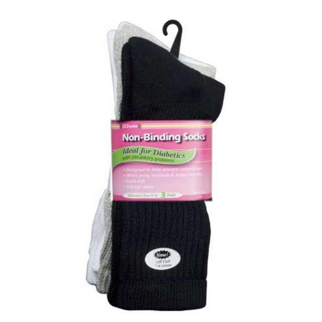 12 Pair Diabetic Crew Socks Size 9-11 Women/'s Pink For Circulation Problems A-19