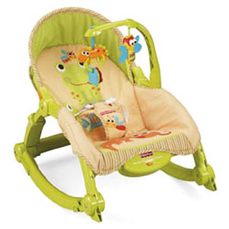 Fisher-Price Newborn-To-Toddler Portable Rocker, Green & Orange