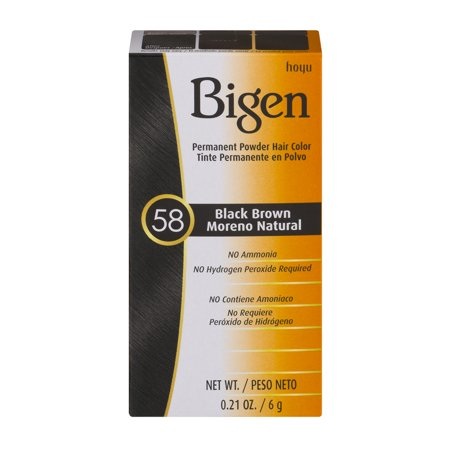 Bigen Permanent Powder Hair Color 58 Black Brown  0 21 Oz