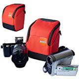 First2savvv high quality anti shock Orange Nylon camcorder case bag for SONY HDR CX150E