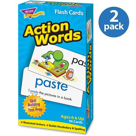 Trend Action Words Skill Drill Flash Cards, Pack of 2