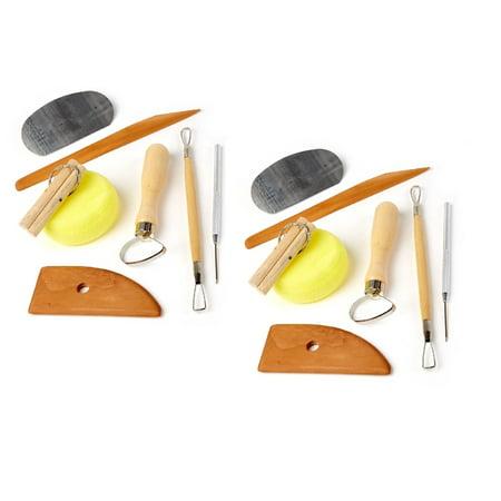 Set of 2 Clay Pottery Tool Kits 8 PC Set Ceramics Wax Carving Sculpting