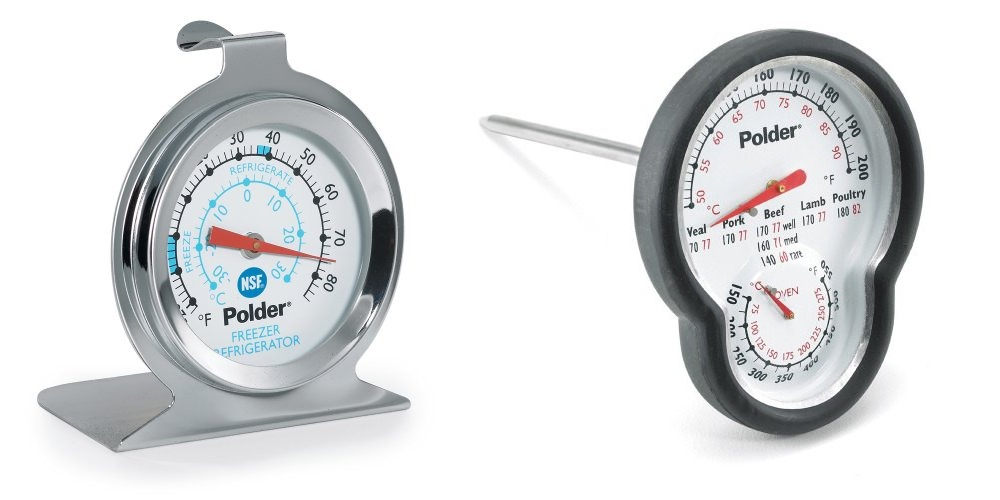 Polder Stainless Fridge Freezer and Dual Oven Thermometer Set by Polder