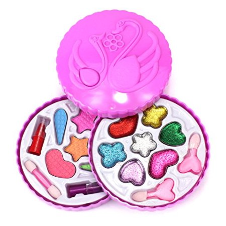 Fashion Girl Swans Case Pretend Play Toy Make Up Case Kit, Safe, Non-Toxic, Washable, Formulated for Children for $<!---->