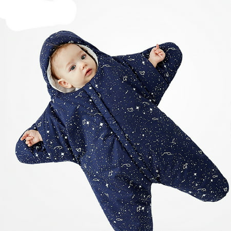 f420485eef Starfish Baby Sleeping Bag Wearable Blanket Baby Sleep Sack Warm Baby  Blanket Swaddle Sleepsacks - Navy Blue - Walmart.com