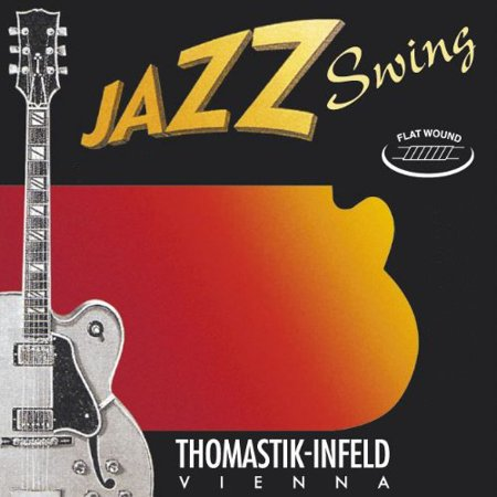 Thomastik-Infeld JS28 Jazz Guitar Strings: Jazz Series Strings Steel Core; Pure Nickel Flat Wound - Single D String, Used by Students and Professionals around the.., By ThomastikInfeld From USA