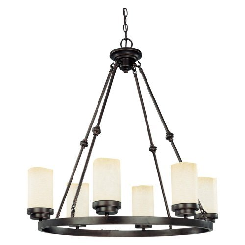 Nuvo Lucern 60/2763 6-Light Oval Chandelier - 22.75W in. - Patina Bronze