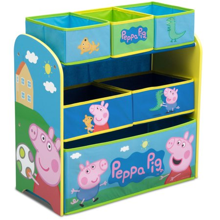 Peppa Pig Multi-Bin Toy Organizer by Delta - Peppa Pig Room Decor