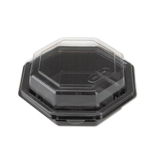 Reynolds Metal 12096 Black Octagon Hinged Lid Bowl, 16 Ounce REY12096